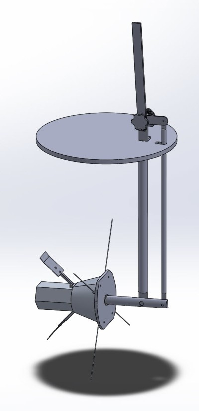 The SolidWorks model Ingemar and I made